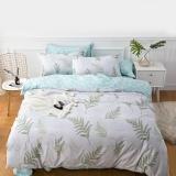 佳佰 四件套 床上用品 被套床单枕套 纯棉简约 叶叶情深 适用1.5米双人床(200*230)