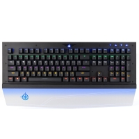 魔炼者(MAGIC-REFINER)MK8方键帽固定青轴混光108键金属磨砂面板透明发光手托吃鸡专业电竞游戏机械键盘