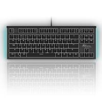 RK ROYAL KLUDGE G87背光机械键盘 87键 德国原厂cherry轴体 电脑有线 游戏lol无冲 黑色 茶轴