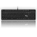 RK ROYAL KLUDGE 920C黑色白光机械键盘 104键 德国原厂cherry轴体 电脑有线 游戏lol无冲 黑色 青轴