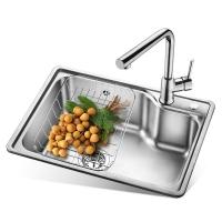欧琳(OULIN)OLJD613水槽+龙头套餐 304不锈钢 厨房大单槽