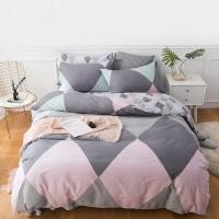 佳佰 四件套 床上用品 被套床单枕套 纯棉简约 写意人生 适用1.5米双人床(200*230)