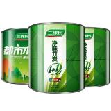 三棵树(SKSHU)净味竹炭1+1 抗碱防霉墙面漆套装 内墙乳胶漆 油漆涂料SSI611+DSI001套装15L