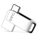 banq C60手机U盘32G USB3.0+Type-C 3.1双接口高速全金属360度旋转迷你优盘OTG手机电脑两用车载U盘 雪白银