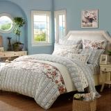 夢潔家紡(MENDALE)床品套件 純棉印花四件套 床單被罩 洛可可的下午茶 1.8米床 248*248cm