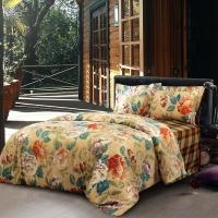 梦洁家纺(MENDALE)床品套件 全棉磨毛活性印花四件套 黛丽 1.8米床 248*248cm