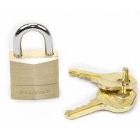 玛斯特(Master Lock)黄铜挂锁家用宿舍门柜门实?#30007;?#21495;挂锁120MCND