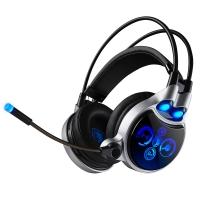 赛德斯(Sades)SA908 游戏发光耳机头戴式物理7.1声道震动电脑耳麦 黑蓝