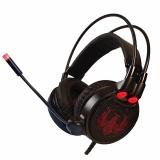 赛德斯(Sades)R1?头戴式震动发光游戏耳机(火凤)吃鸡游戏耳机H1Z1?有线电竞电脑耳麦带麦CF专用 绝地求生