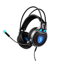 赛德斯(Sades)R1 7.1耳机头戴式H1Z1电竞电脑耳麦带麦 黑蓝