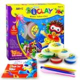 AMOS韩国进口儿童超轻超柔粘土/彩泥套装玩具 6色工具套装