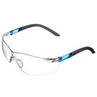 霍尼韦尔(Honeywell)300310 护目镜 S300A 蓝款透明镜片 男女 防风 防沙 防尘 防雾 骑行运动眼镜 10副/盒