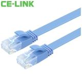 CE-LINK 5115 扁平六类双绞网线3米 CAT6 UTP无氧铜网线 扁线 电脑跳线 6类网络连接线 蓝色