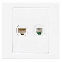 施耐德(Schneider)开关插座 电话电脑插座面板 优意系列 白色