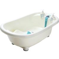 嘟迪(DuDi) 豪华测温浴盆 粉蓝 婴儿浴盆 洗澡盆