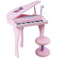 贝芬乐(buddyfun)儿童电子琴 双供电天籁之音迷你钢琴88022A粉色(新老包装随机发货)