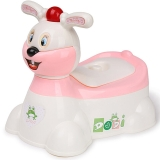嘟迪DuDi加大号儿童坐便器男 女宝宝座便器婴儿小孩马桶 婴幼儿尿盆 兔子音乐坐便器粉