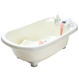 嘟迪(DuDi) 豪华测温浴盆 粉色 婴儿浴盆 洗澡盆