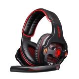 赛德斯(Sades)SA903 电竞头戴式游戏耳机(黑红)绝地求生电脑耳机耳麦7.1声道 自带声卡吃鸡利器