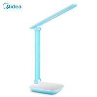 美的(Midea)LED台灯阅读学习宿舍卧室床头学生工作usb充电三挡调光触摸折叠蓝白