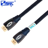 三堡(SANBAO) WHR-130J HDMI A/A高清线 3D 1.4版数据线 金属头高清设备连接线 3M黑网