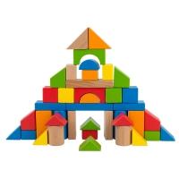 Hape 积木玩具 40粒益智积木 1岁以上 E8321 宝宝早教婴幼儿启蒙玩具