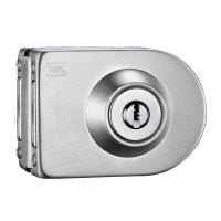 摩登五金(MODERN) 玻璃门锁单门免开孔不锈钢防盗门锁锁具MF-Q-855