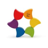 Hape 早教益智 积木拼摆 彩虹翻翻乐 1-2岁 E0014 儿童启蒙玩具