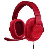 罗技(Logitech)G433 7.1 有线环绕声游戏耳机麦克风(红色) 游戏耳麦 电竞耳机 头戴式耳机