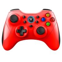 雷柏(Rapoo)V600S 无线振动游戏手柄 手机手柄 安卓/电脑/智能电视/PS3适用 王者荣耀手柄 红色