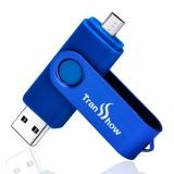 权尚(Transshow)玲珑16GB OTGU盘 2.0 安卓手机u盘 蓝色