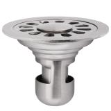 德众(DZ) D687 洗衣机双用地漏 U型防臭不锈钢圆形 卫生间浴室六防10cm规格