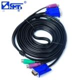 三堡(SANBAO) SKV-A300 KVM三并线 PS2鼠标键盘+VGA线 KVM切换器连接线专用线 公对公 3米