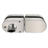 摩登五金(MODERN) 玻璃門鎖 雙門免開孔 防盜大門鎖具 不銹鋼門鎖 MF-Q-860