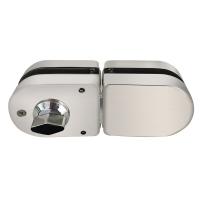 摩登五金(MODERN) 玻璃门锁 双门免开孔 防盗大门锁具 不锈钢门锁 MF-Q-860
