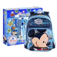 迪士尼(Disney)DM0900-5A 精装小学生文具套装/含书包水杯/17件套蓝色