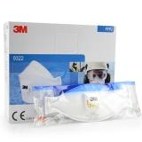 3M 9322 FFP2带呼吸阀防护口罩(10只/盒)防粉尘/防PM2.5