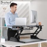 Brateck 站立办公升降台式电脑桌 台式笔记本办公桌 可移动折叠式工作台书桌 笔记本显示器支架台DWS04-01