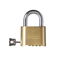 瑪斯特(Master Lock)黃銅密碼鎖家用倉庫大門可調密碼掛鎖175MCND