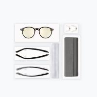 趣看(qukan)LG02QK 防蓝光眼镜标准版(WellingtonX) W1 亮黑色、游戏、电竞、防蓝光、办公、防视疲劳、防紫外线