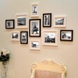 得印(befon)照片墻 組合創意相框墻 11框實木組合 黑白色