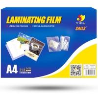 千帆(YIDU SAILS)A4 216x303MMx12.5C 透明高清加厚塑封膜 照片护卡膜 过塑膜 100张/包