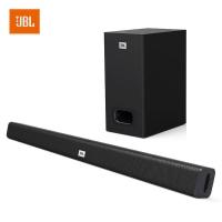 JBL STV125 无线回音壁系统 蓝牙音响 低音炮 Soundbar 条形音箱 家庭影院电视音响 黑色