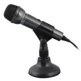 硕美科—声丽(SENICC)SM-098 手持式 电脑笔记本话筒 K歌/大会议等麦克风 单插头 黑色
