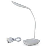 得力(deli)4320 觸控開關 辦公桌面臺燈 LED燈珠 可充電 白色