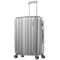 美旅AmericanTourister拉杆箱 男女商务静音飞机轮行李箱大容量可扩展 24英寸TSA海关锁旅行箱79B银灰