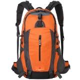 SWISSGEAR登山包45L 防水耐磨大容量登山包配防雨罩户外运动背包双肩包防雨 JP-3502橘黄色