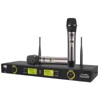 凯浮蛙(KFW) WK-U8600 U段无线麦克风话筒 专业KTV演出卡拉ok一拖二