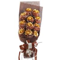 壹盒驚喜 11朵金箔玫瑰花 YH11 520送女朋友送老婆生日禮品送女友只在乎你一人