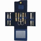 777指甲刀套装 指甲剪钳修容组合9件套NTS-1022G蓝色(进口)